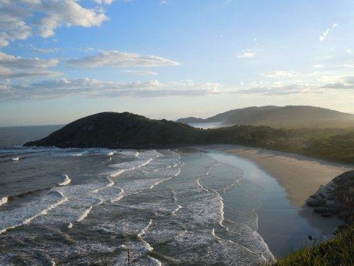 Ilha do Mel, PR: Praia de Fora vista do Farol das Conchas